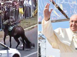 Papa ndalon makinën për të ndihmuar oficerin e plagosur (VIDEO)