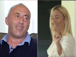 """""""Shqipëri moj trime…""""/ Haradinaj ia merr këngës, bashkëshortja nis të kërcejë (VIDEO)"""