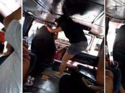 VIDEO/ Gruaja kap burrin me një tjetër në autobus, plas sherri