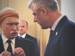 FOTO/ Plas gallata në internet pas takimit të Thaçit me Putin