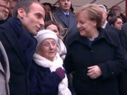 VIDEO/ 100-vjeçarja ngatërron Merkelin me gruan e Macron