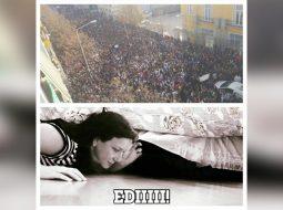 FOTO/ Protesta e studentëve, shpërthen gallata me Ramën në internet