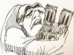 FOTO/ Karikaturat më të bukura për djegien e Notre-Dame