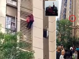 VIDEO/ E mbyllën në shtëpi, 80-vjeçarja zbret nga dritarja e katit të 14-të