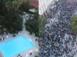 VIDEO/ Grida Duma martonte motrën 50 m nga protesta e opozitës
