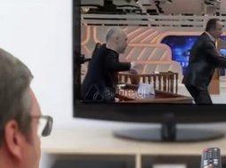 """VIDEO/ Rama dhe Haradinaj përplasen """"në gjyq"""", Vuçiç i sheh në TV"""
