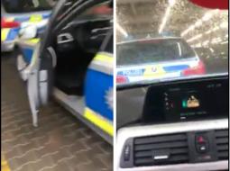 VIDEO/ Polici gjerman dëgjon këngë patriotike shqiptare në makinë